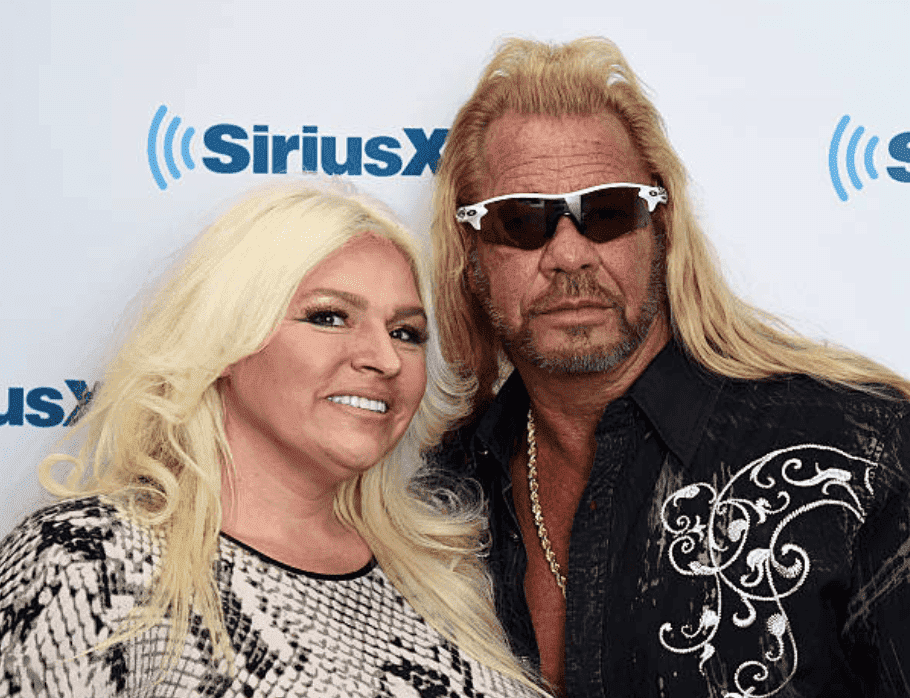 "Beth Chapman and her husband, Duane ""Dog"" Chapman make an appearance at the SiriusXM Studios, on April 24, 2015, New York City 