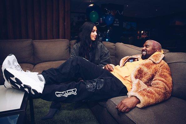Kim Kardashian West and Kanye West in Inglewood, California. | Photo: Getty Images.