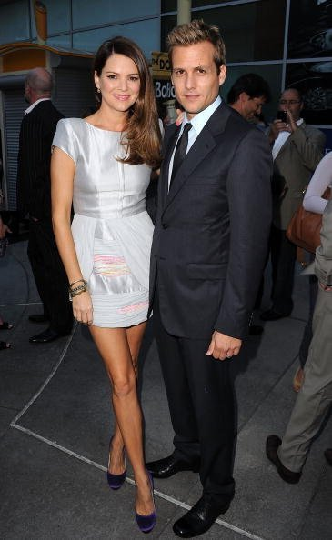 """Jacinda Barrett and Gabriel Macht attend the Los Angeles premiere of """"Middle Men"""" held at ArcLight Cinemas on August 5, 2010, in Hollywood, California. 