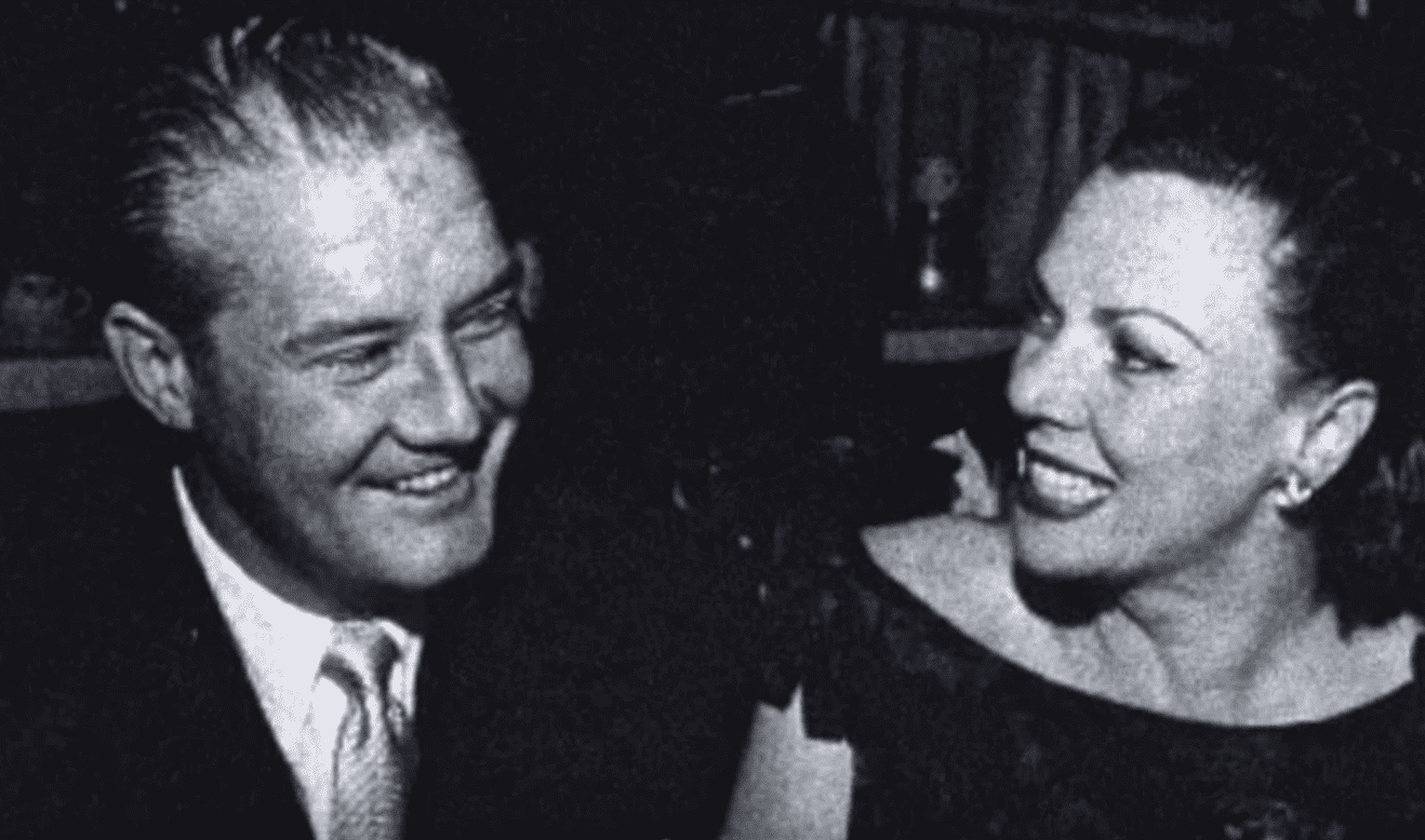 A picture of George Reeves and Leonore Lemmon . | Source: YouTube/TheLifeAndSadEnding