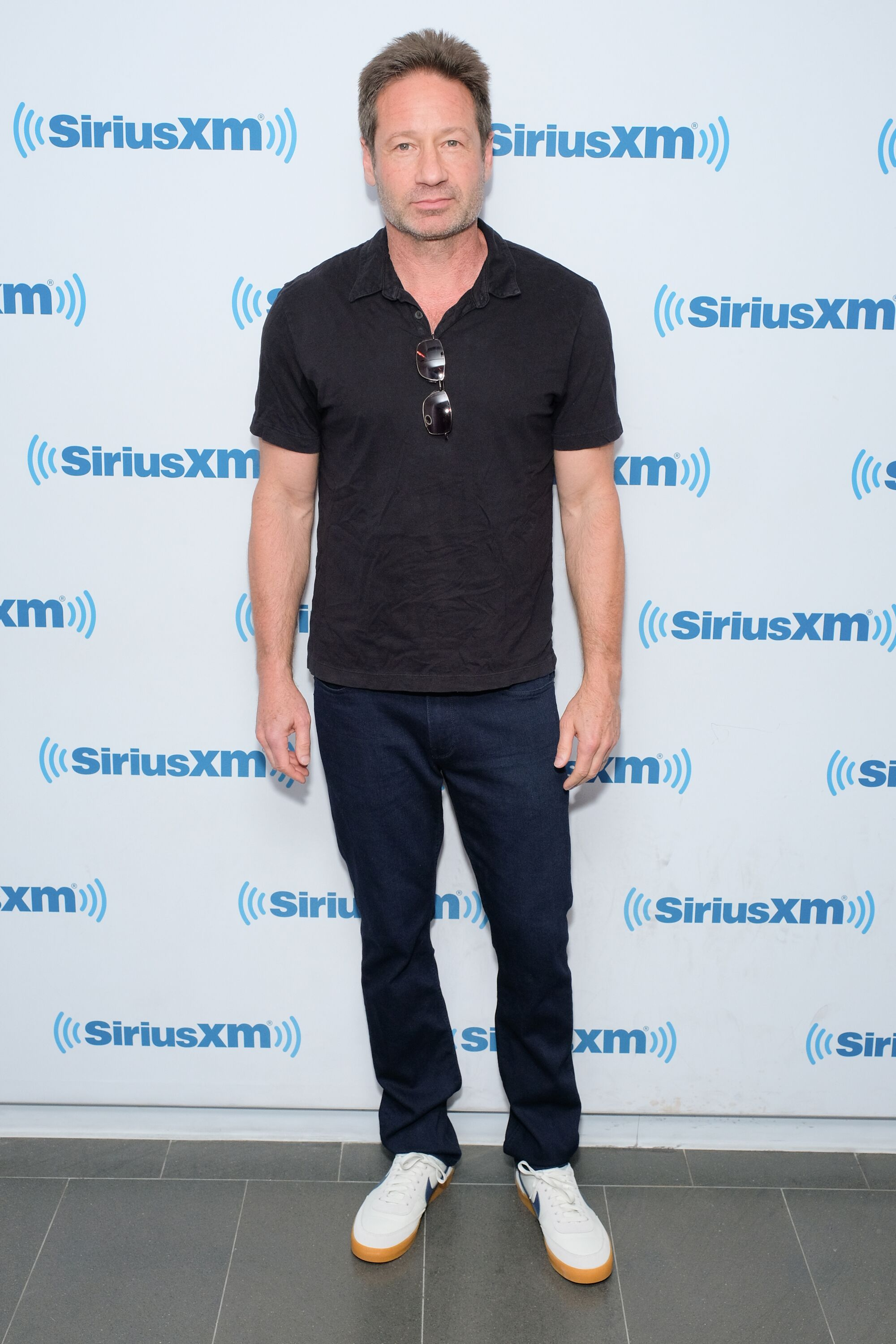 David Duchovny besucht am 14. Mai 2018 die SiriusXM-Studios in New York City. | Quelle: Getty Images