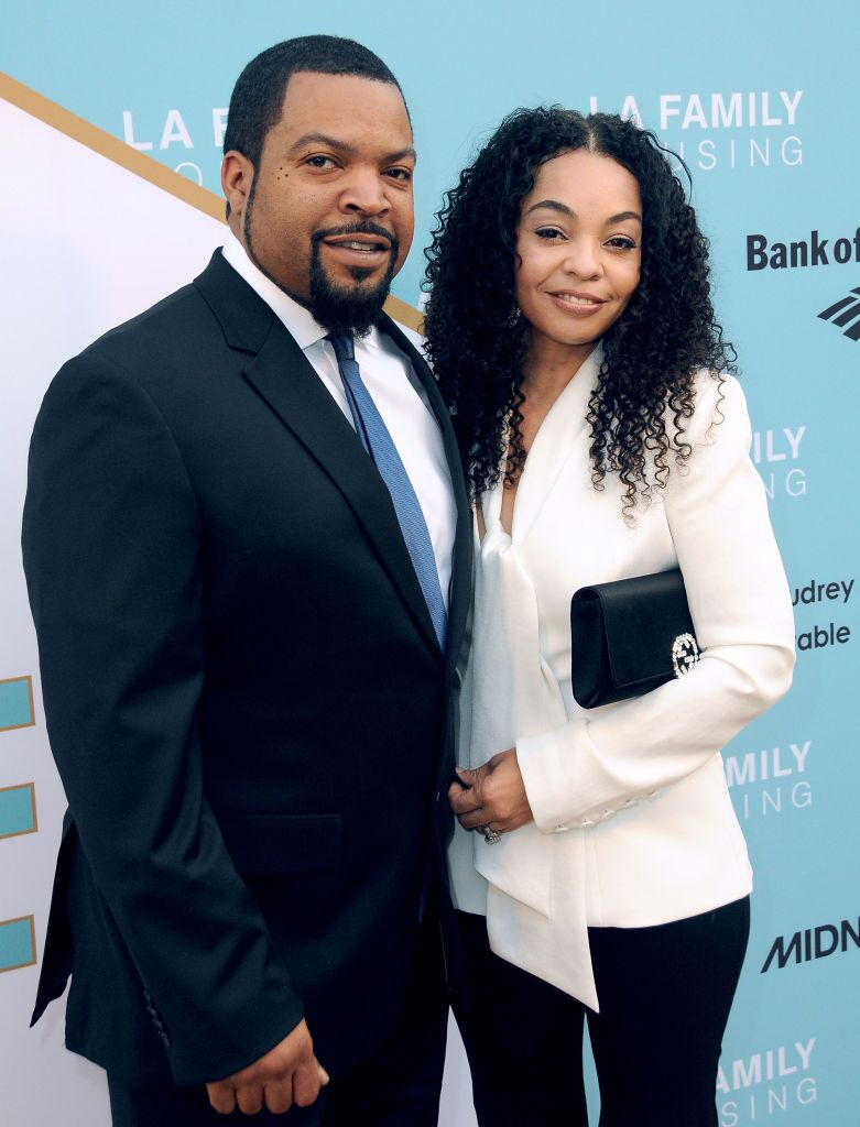 Ice Cube and wife Kimberly Woodruff at the LA Family Housing 2017 awards in Hollywood | Source: Getty Images