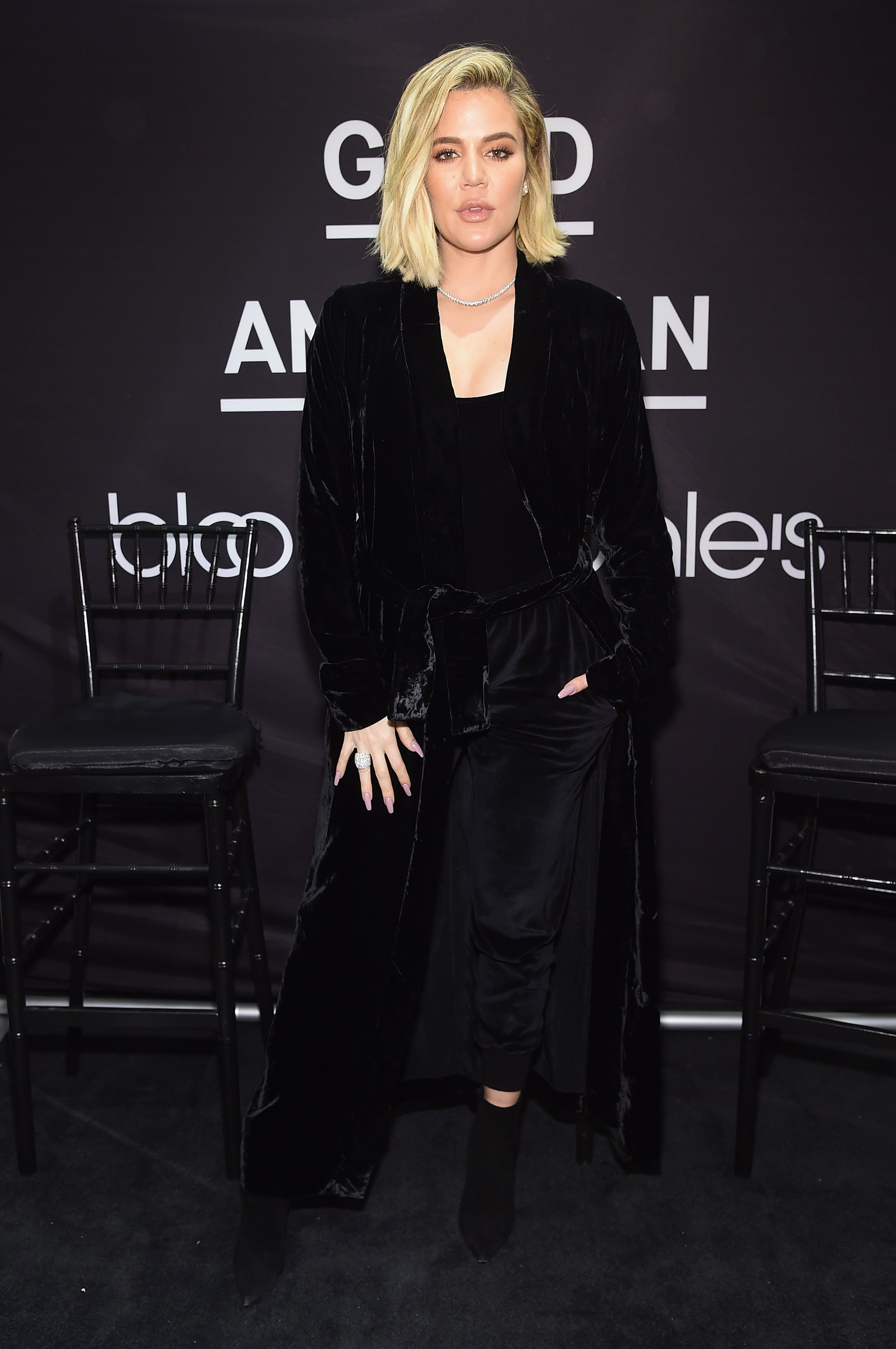 Khloe Kardashian celebrates the launch of Good American with Emma Grede at Bloomingdale's on October 28, 2017 in New York City | Photo: Getty Images