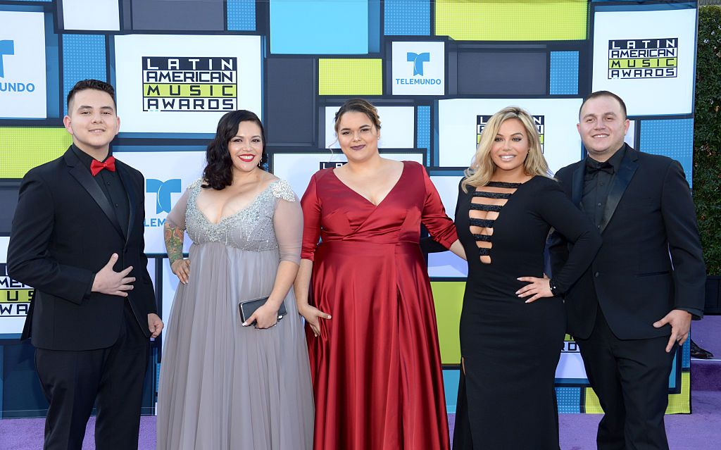 Johnny Lopez, Jacquie Marin, Jenicka Lopez, Chiquis Rivera and Michael Marin at the 2016 Latin American Music Awards in Hollywood, California | Source: Getty Images