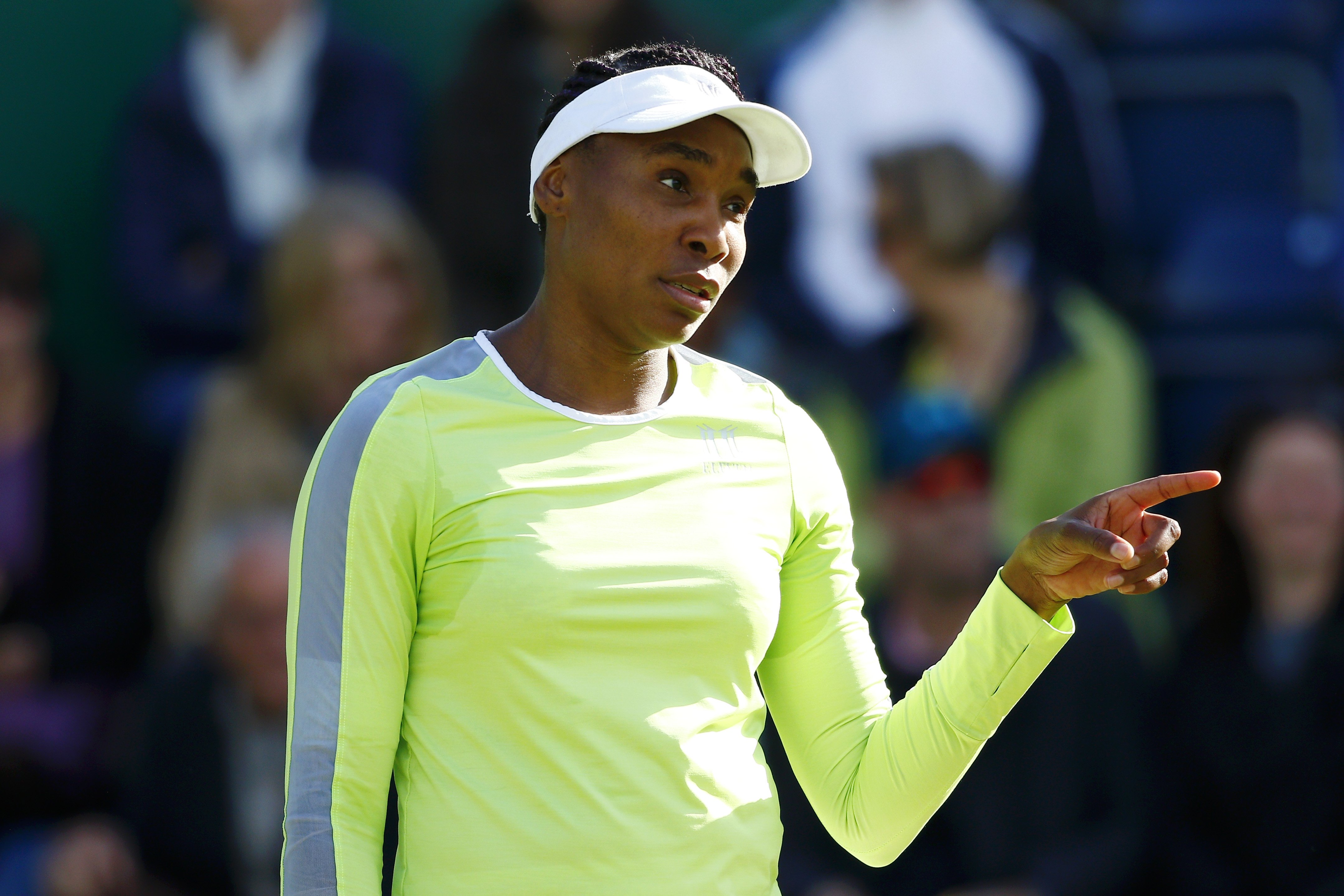 Venus Williams during day four of the Nature Valley Classic at Edgbaston Priory Club on June 20, 2019.   Source: Getty Images