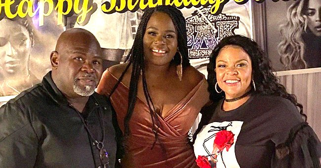Tamela & David Mann's Daughter Porcia Celebrates 35th Birthday Posing in Nude Tracksuit in Forest