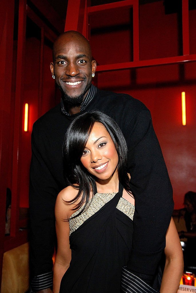 Kevin Garnett and Brandi Padilla at the NBA All-Star Weekend Party hosted by GQ Magazine at the Venetian Hotel in Las Vegas on February 17, 2007. | Source: Getty Images