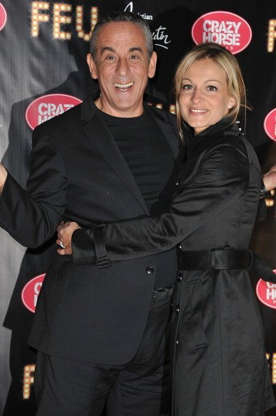 Thierry Ardisson et Audrey Crespo-Mara. | Photo : gettyimages