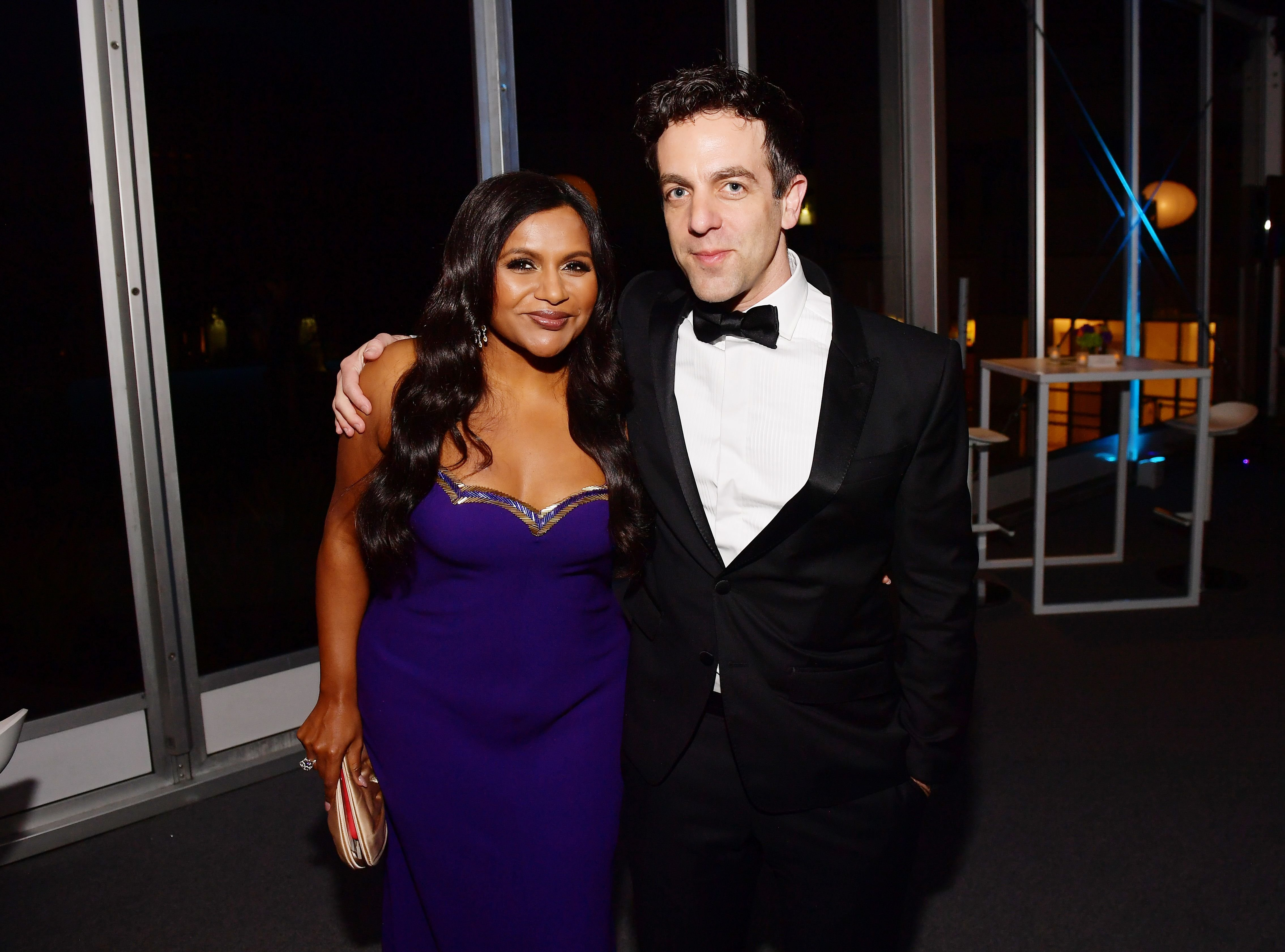 Mindy Kaling and B. J. Novak at the 2020 Vanity Fair Oscar Party in Hollywood | Source: Getty Images