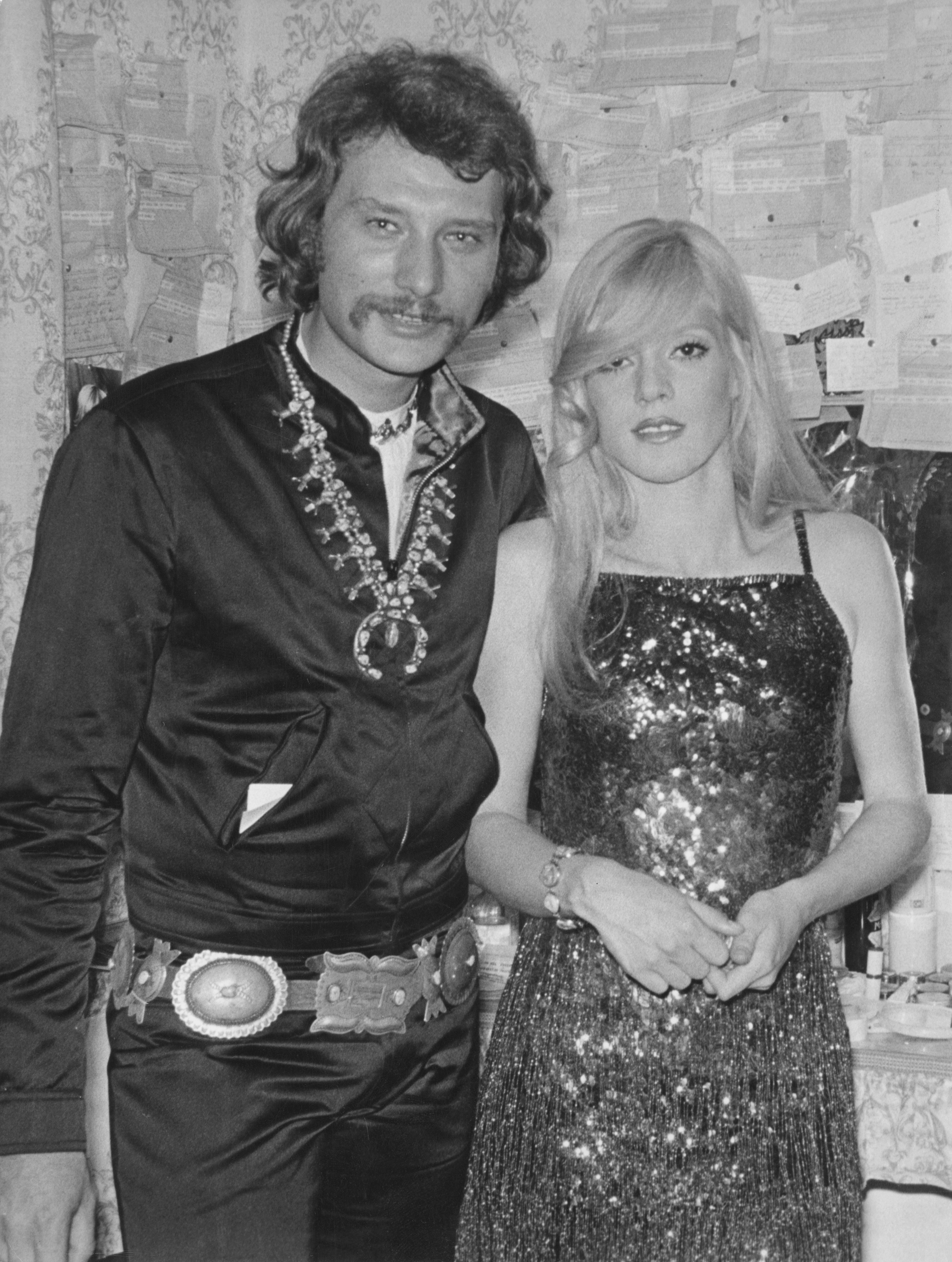 Johnny Hallyday et  Sylvie Vartan, au music-hall Olympia à Paris, le 22 septembre 1970. | Photo : Getty Images