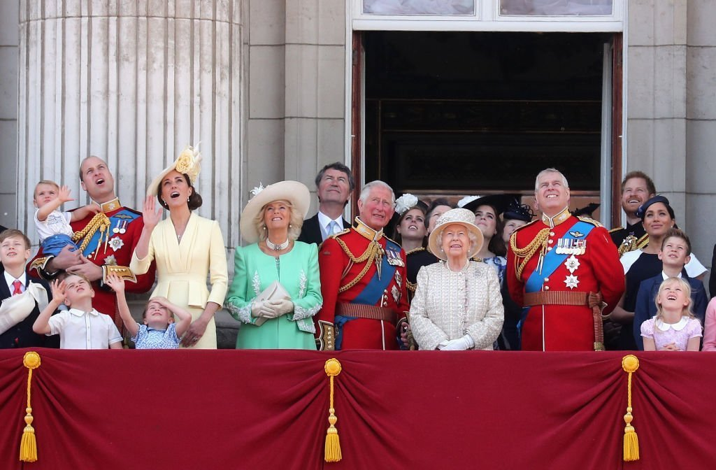 Members of The British Royal Family during Trooping The Colour. | Photo: Getty Images