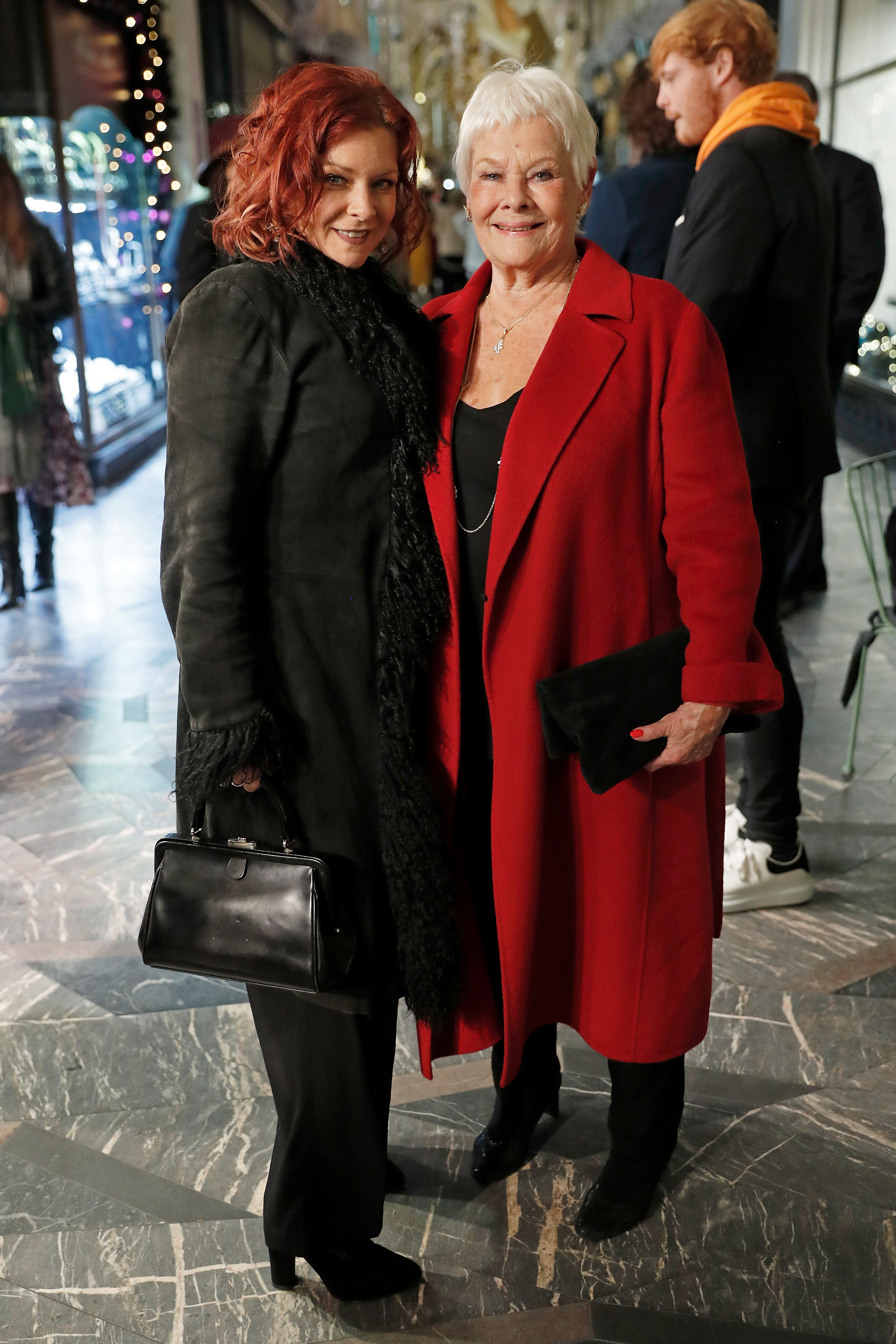 Judi Dench and her daughter, actress Finty Williams, at the event celebrating the 200th Burlington Christmas in 2019 in London, England | Source: Getty Images