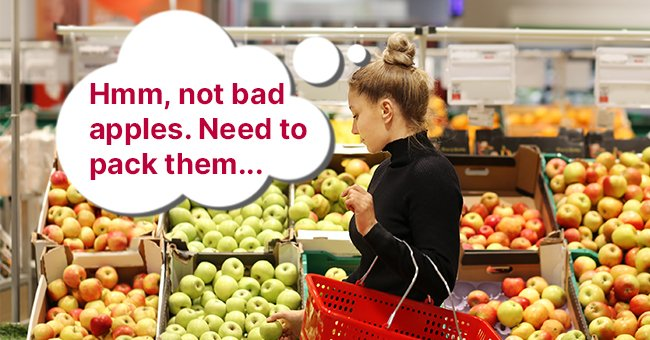 The woman walked up to another shelf and asked about the other fruits | Photo: Shutterstock