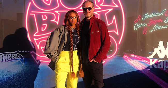 Eve of 'The Talk' Rocks Extra Long Pigtail Braids & White Sneakers in New Photo with Husband Maximillion Cooper