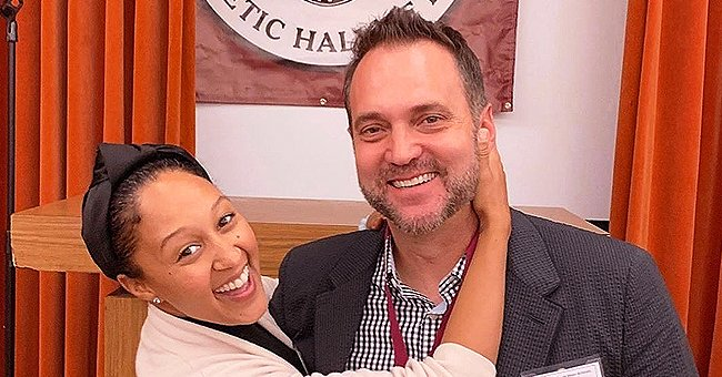Tamera Mowry of 'The Real' Gives Husband Adam Housley a Kiss at Their Napa Home in Romantic Photo