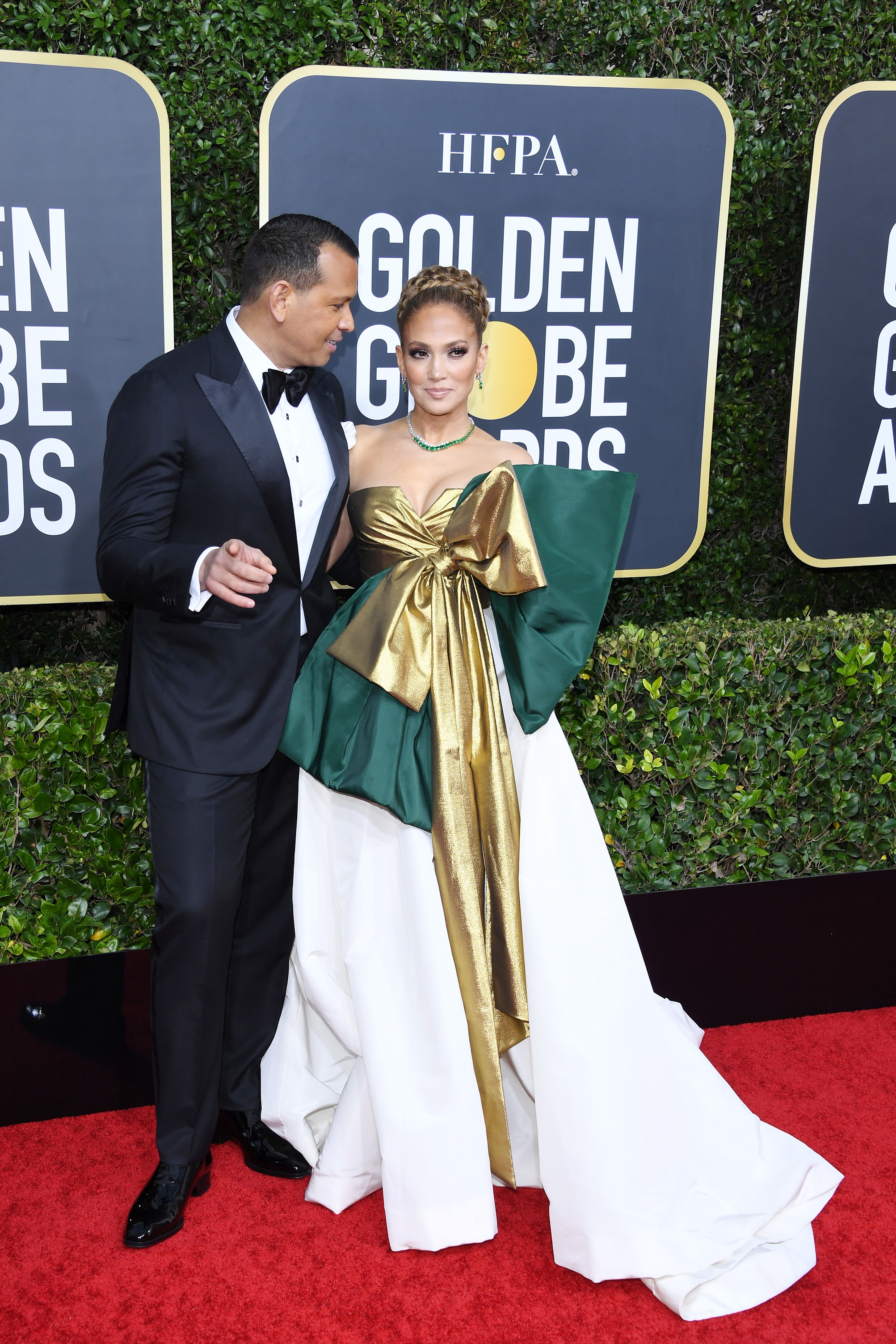 Alex Rodriguez and Jennifer Lopez at the 77th Annual Golden Globe Awards on January 05, 2020, in Beverly Hills, California | Photo: Daniele Venturelli/WireImage/Getty Images