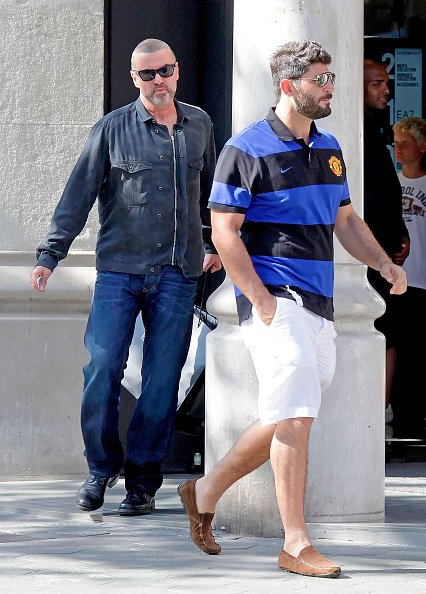George Michael and Fadi Fawaz are seen on July 31, 2012 in Barcelona, Spain.   Photo: Getty Images