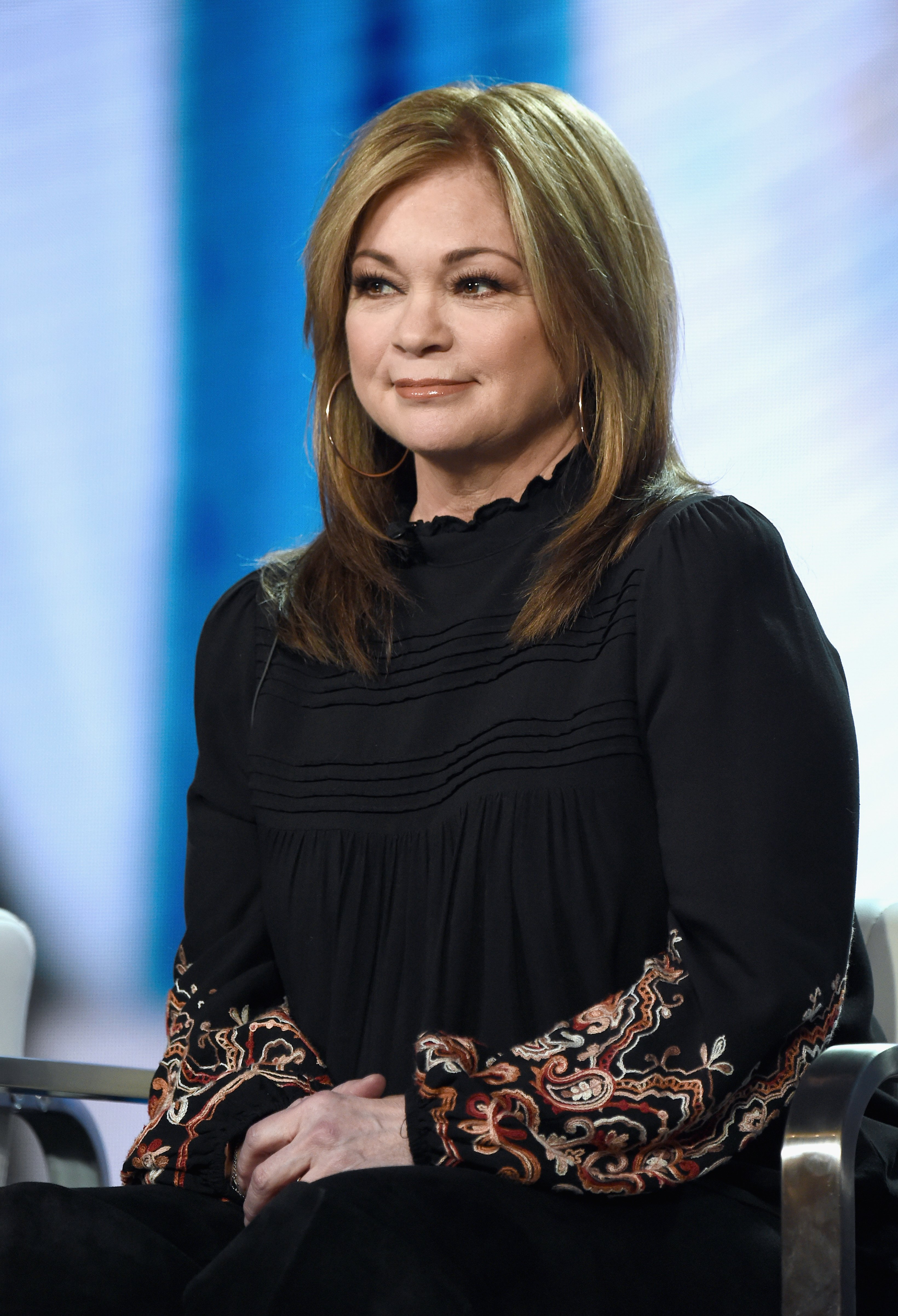 Valerie Bertinelli of 'Family Food Showdown' speaks onstage during the Food Network portion of the Discovery Communications Winter 2019 TCA Tour at the Langham Hotel on February 12, 2019 in Pasadena, California | Photo: Getty Images