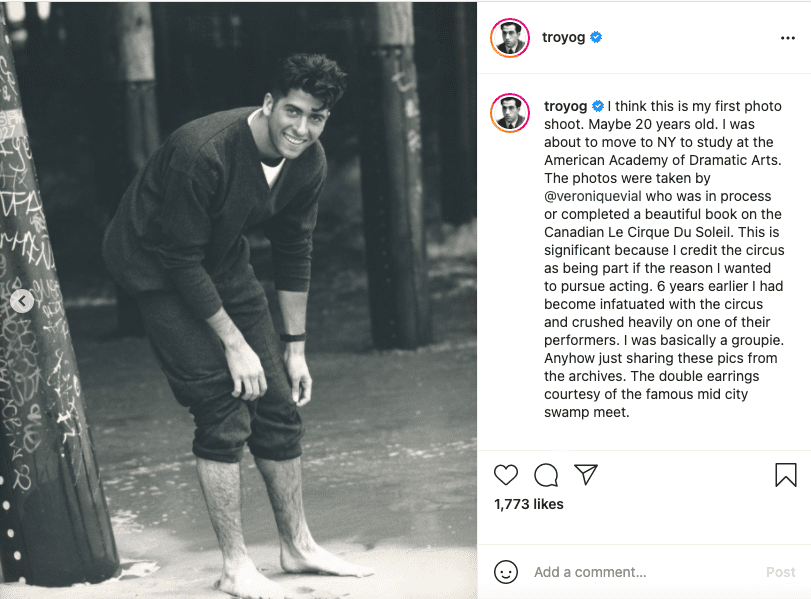 Troy Garity in one of the slideshows from a throwback shared on Instagram in March 2021. | Image: Instagram/ troyog.