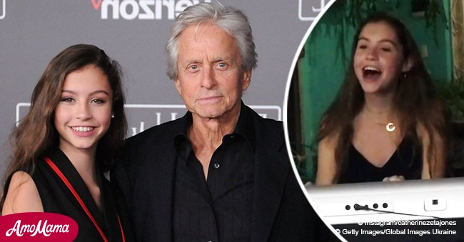 Michael Douglas' daughter is 15, and a new video shows her inborn singing talent in all its glory
