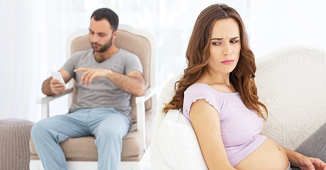 A pregnant woman was upset after her husband bought his sister a car.   Photo: ShutterStock