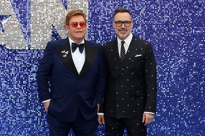 Elton John and husband David Furnish. I Image: Getty Images.