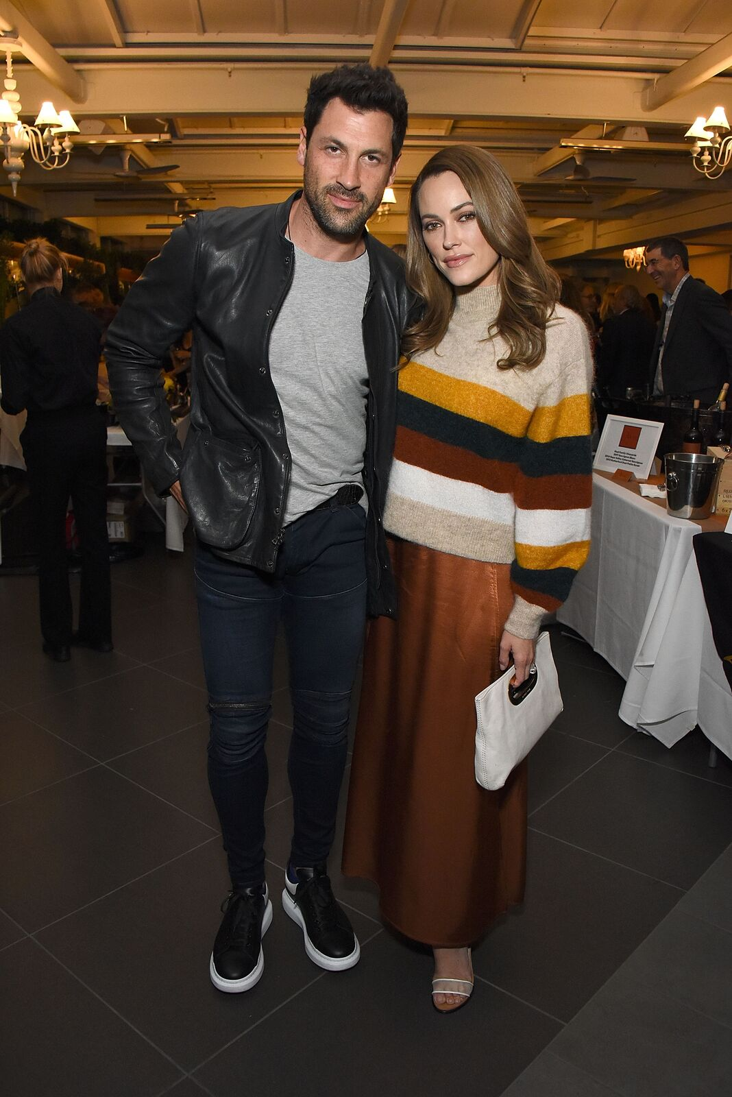 Maks Chmerkovskiy and Peta Murgatroyd attend the March of Dimes Signatures Chefs Auction Los Angeles on October 11, 2018.   Source: Getty Images