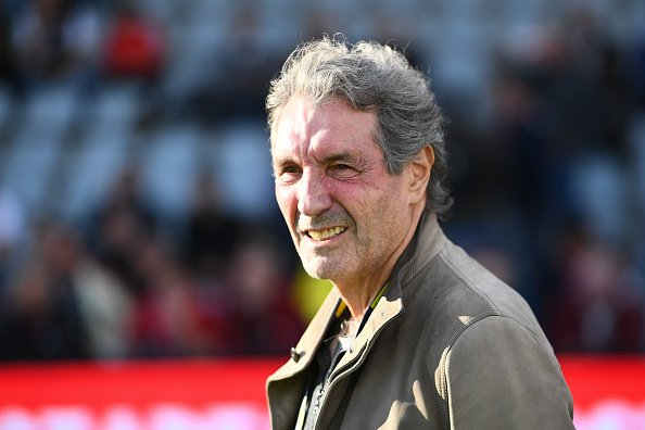 Jean-Jacques Bourdin vice-président de Nîmes lors du match de Ligue 1 entre Nîmes et Monaco le 11 mai 2019 à Nîmes, France. | Photo : Getty Images