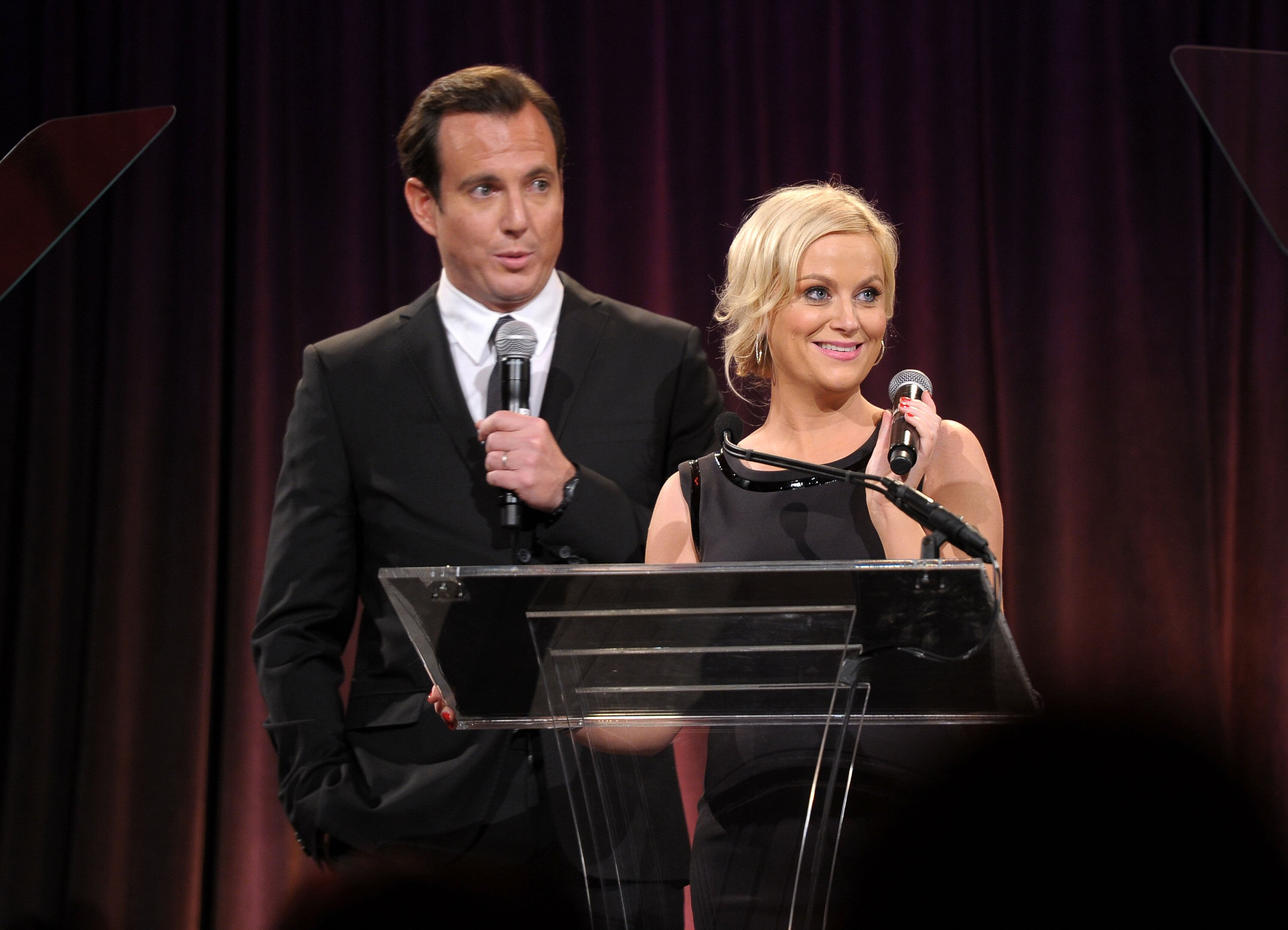 Will Arnett and Amy Poehler speak during the Worldwide Orphans Foundation's Seventh Annual Benefit Gala hosted by Amy Poehler and Will Arnett held at Cipriani Wall Street on November 14, 2011 in New York City. | Photo: GettyImages