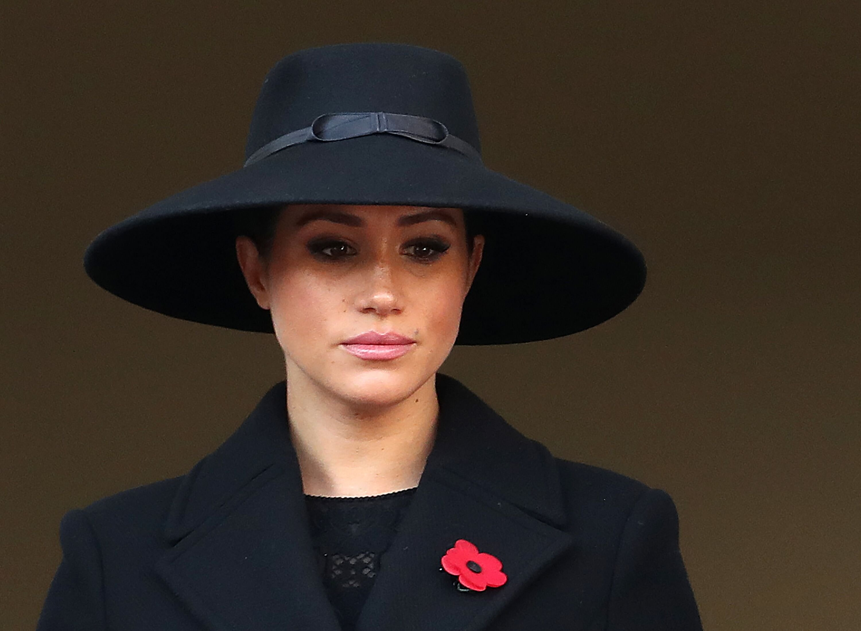 Meghan Markle at the annual Remembrance Sunday memorial on November 10, 2019, in London, England. | Source: Getty Images