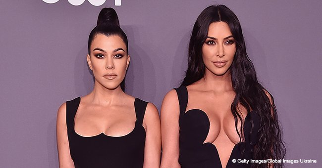 Kim and Kourtney Look Unrecognizable without Make-Up