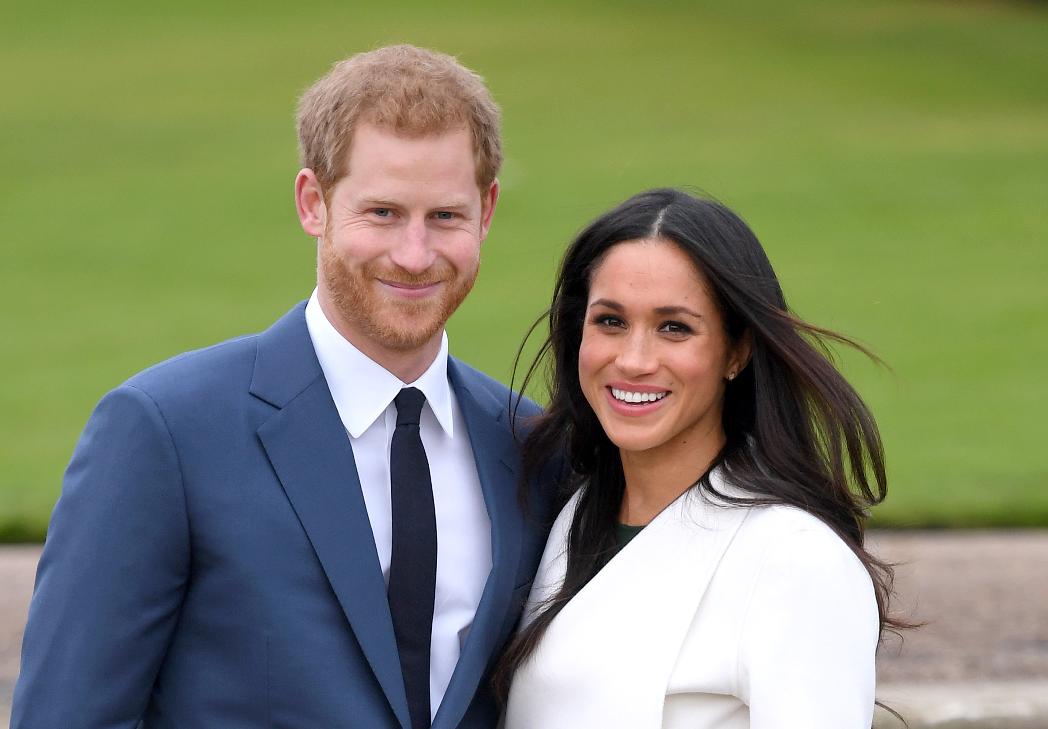 Prince Harry and Meghan Markle pictured the photocall to announce their engagement in 2017, London, England. | Photo: Getty Images