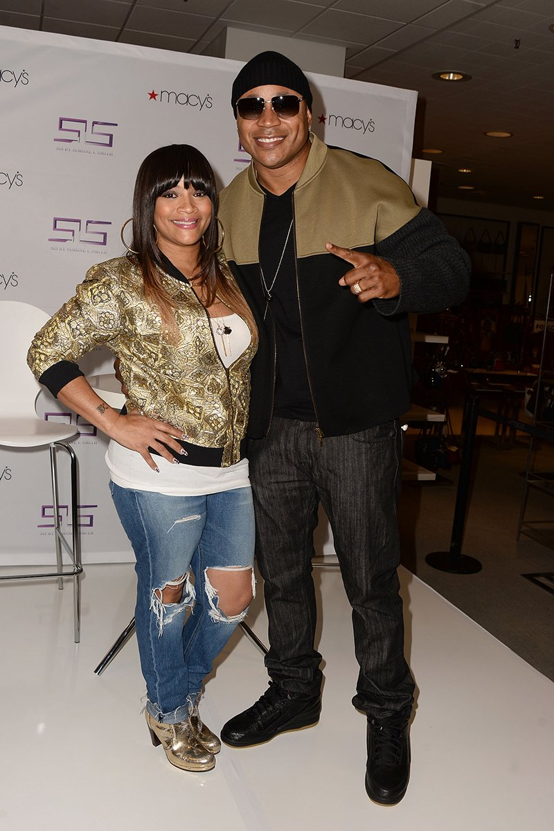 Simone Smith and rapper LL Cool J attend Macy's Downtown Los Angeles Hosts SIS By Simone I. Smith Trunk Show at Macy's Downtown Los Angeles on November 14, 2015 in Los Angeles, California. I Image: Getty Images.