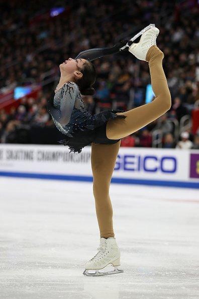 Alysa Liu participe au Championnat de patinage libre féminin du 25 janvier 2019 à Detroit, dans le Michigan. | Photo: Getty Images.
