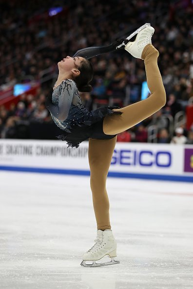 Alysa Liu participe au Championnat de patinage libre féminin du 25 janvier 2019 à Detroit, dans le Michigan. | Photo: Getty Images.