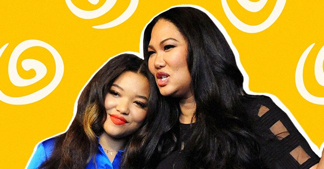 Kimora Lee Simmons' Daughter Ming Wears a Lacy Bra underneath a Black Blazer Paired with Slacks