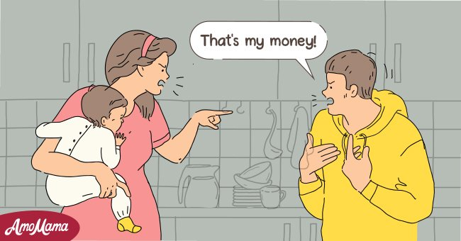 Is it okay to ask for money knowing that it has been set aside for someone's future?     Photo: Amomama