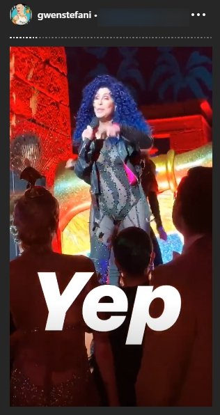 Cher performs at the 2019 Gala Met on May 6, 2019. | Source: Instagram Stories/GwenStefani