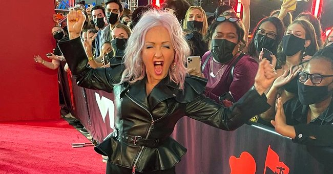 Cyndi Lauper at the MTV Video Music Awards on September 12, 2021, at Barclays Center in Brooklyn, New York   Photo: Instagram/cyndilauper