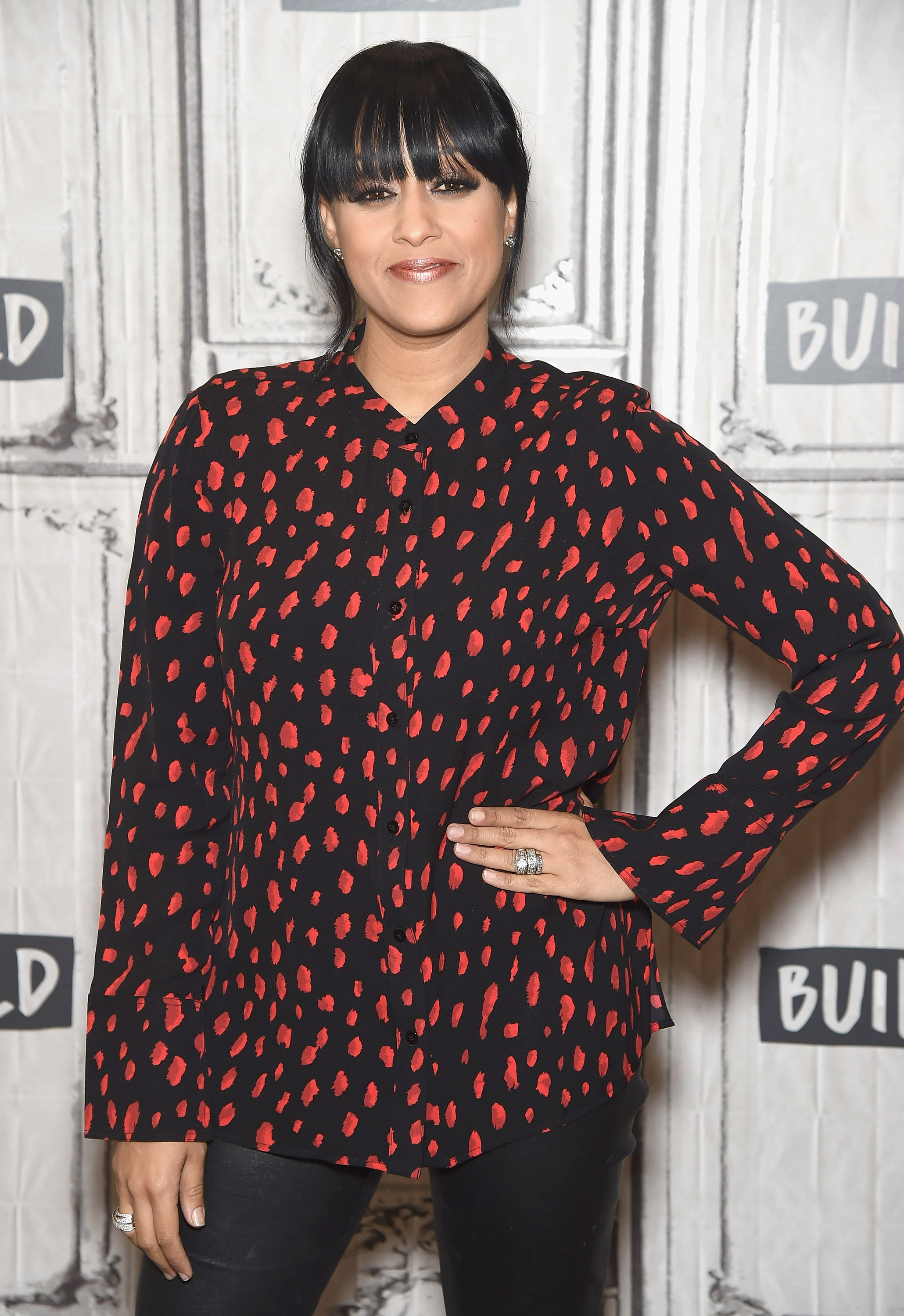 "Tia Mowry at Build Series to discuss her new book ""Whole New You"" on March 16, 2017. 