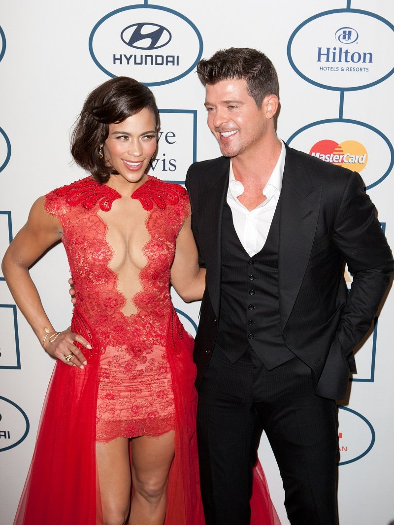 Paula Patton and Robin Thicke on January 25th 2014 at the Beverly Hilton in Beverly Hills | Photo: Shutterstock