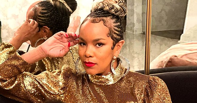Check Out LeToya Luckett's Gold Mini Dress Which She Wore during Her Family New Year's Celebration with Her Two Kids