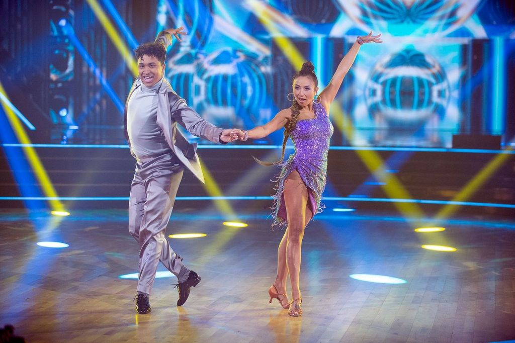 """Jeannie Mai performing during the first elimination round of """"Dancing With The Stars"""" in September 2020 