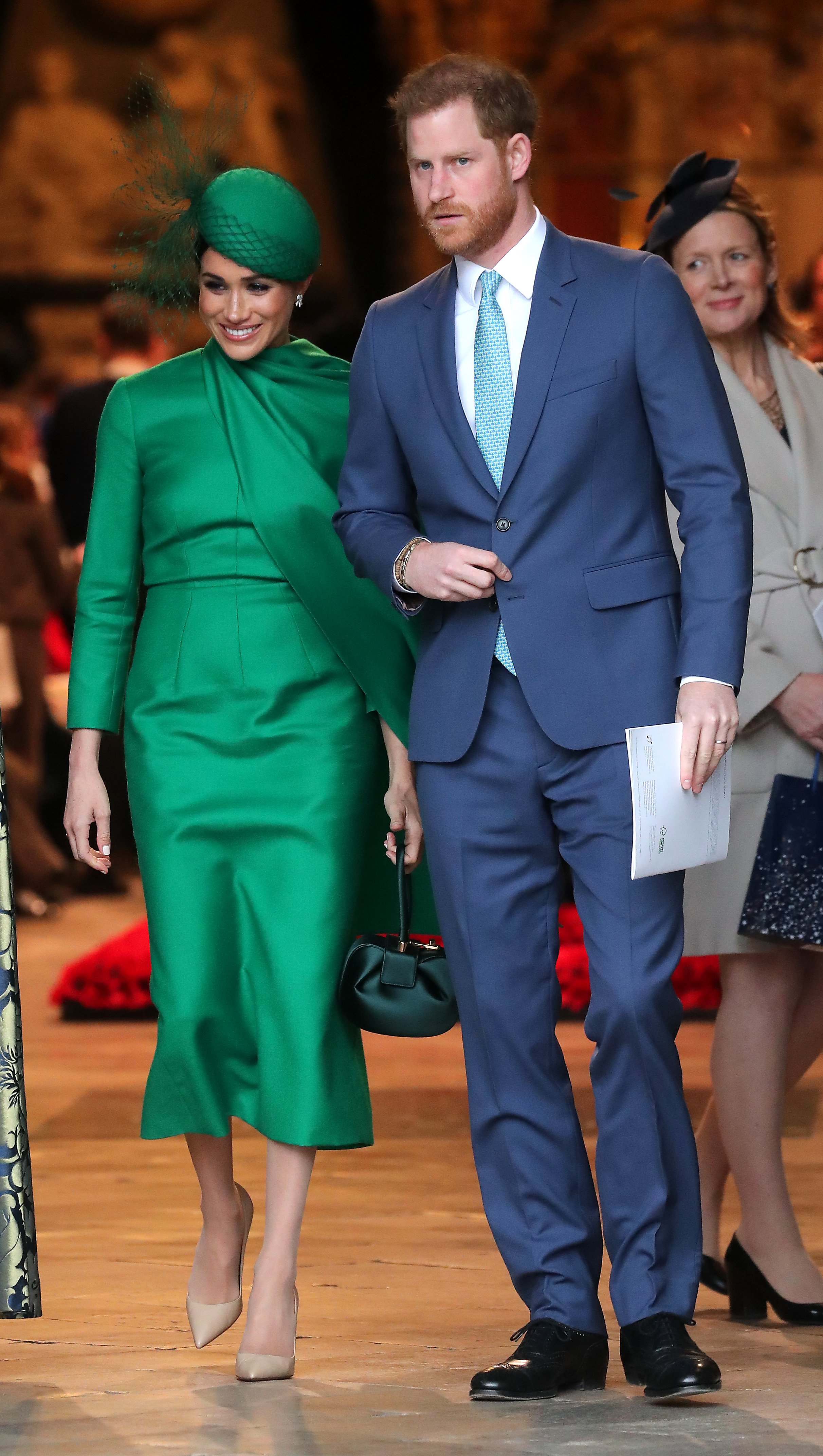 "Prince Harry and Meghan Markle attending ""The Commonwealth Day of Service"" event in London, March, 2020. 