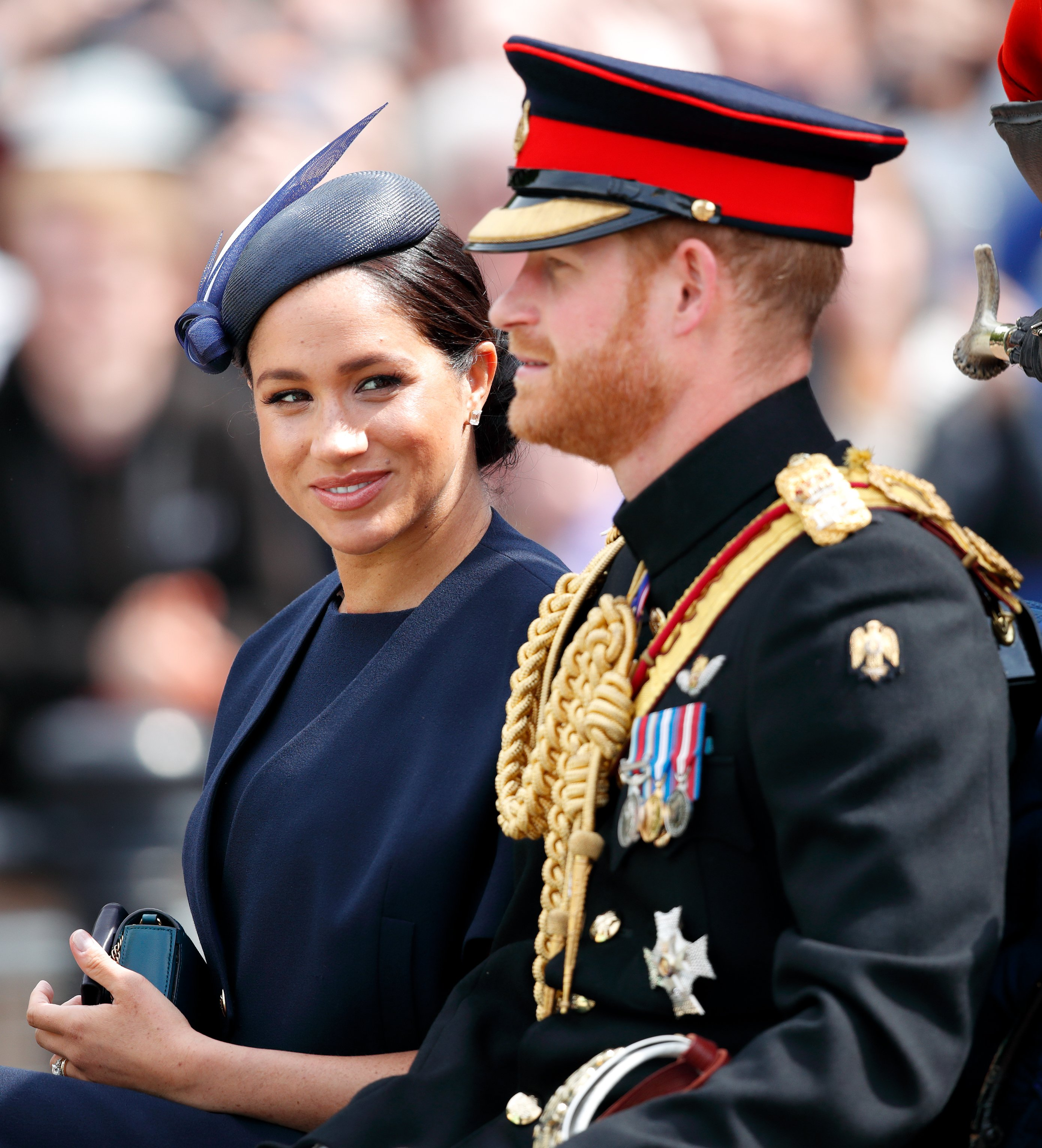 Duchess Meghan and Prince Harry at Trooping the Colour 2019   Photo: Getty Images