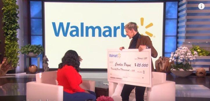 Ellen DeGeneres und Candice Payne - Quelle: YouTube/ TheEllenShow