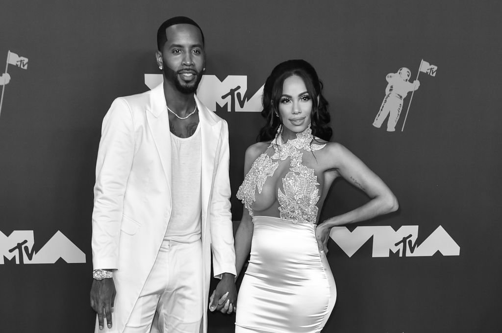Safaree Samuels and Erica Mena Samuels attend the 2019 MTV Video Music Awards red carpet at Prudential Center | Photo: Getty Images