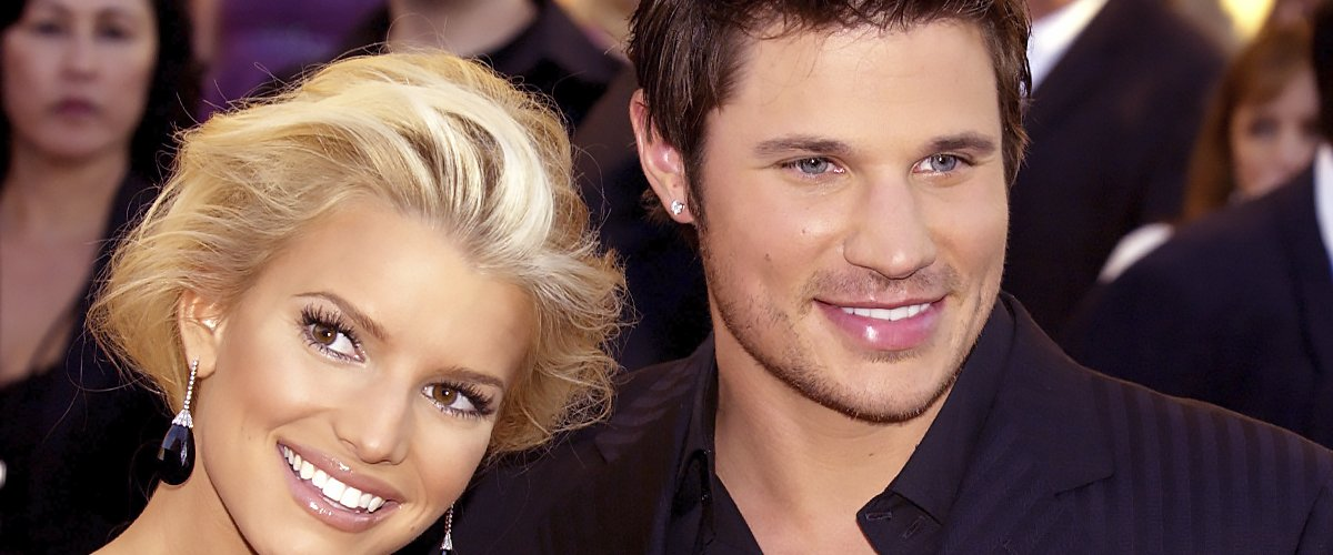 Jessica Simpson and husband Nick Lachey during 32nd Annual American Music Awards   Photo: Getty Images