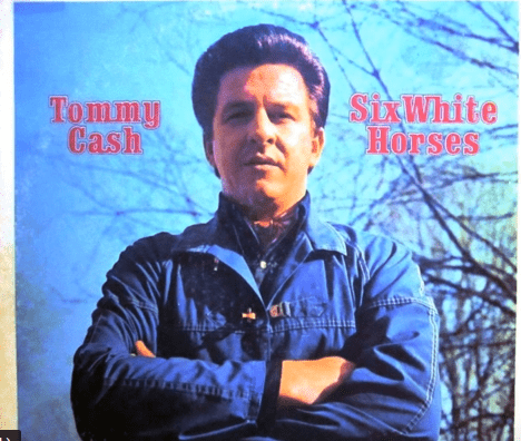 "Cover photo for Tommy Cah's song, ""Six White Horses."" 