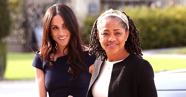 See the Peachy-Pink Look That Meghan Markle's Mom Wore to Baby Archie's Christening
